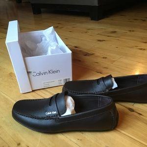 Mens leather dark brown loafer